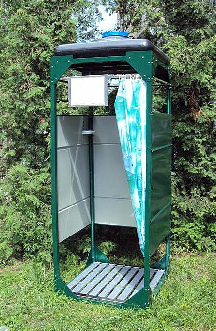 Статьи по строительству Коммуникации Летний душ на даче